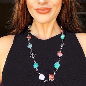 Sundance Jewelry - Semi Precious Stone Silver Metal Wrapped necklace